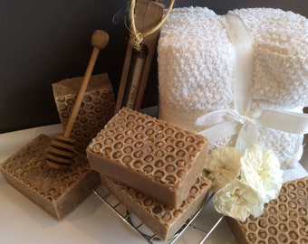 MILK AND HONEY Soap....goat milk, local honey, mango butter, cocoa butter