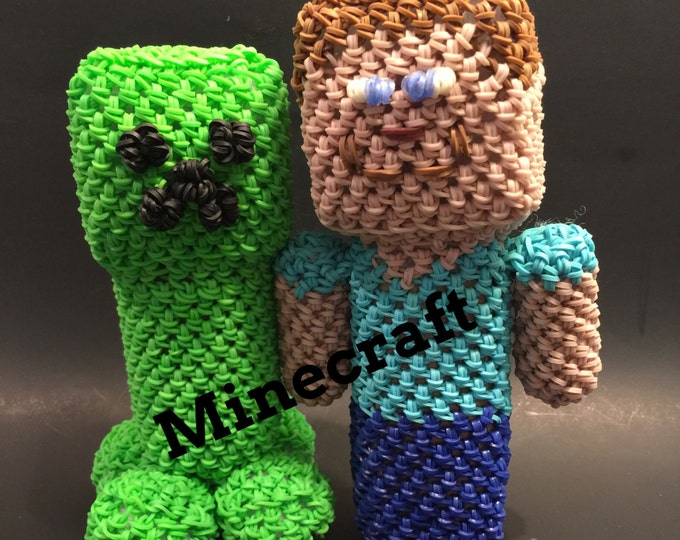Minecraft Combo Play Pack Rubber Band Figure, Rainbow Loom Loomigurumi, Rainbow Loom Character
