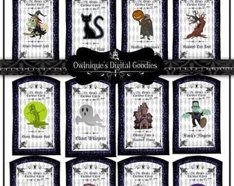 Printable Halloween Labels , Digital Download Halloween Labels, Apothecary Labels Halloween, Halloween bottle Decorations, Halloween tags