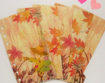 Set of 5 Fall / Autumn Themed PERSONAL Planner Dividers