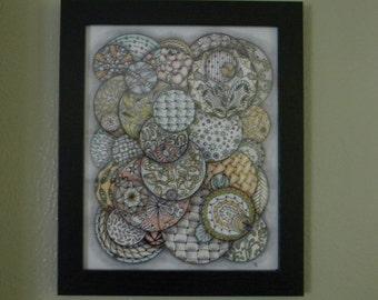 "8"" x 10"" Tangle Art - ""Brainstorm"""