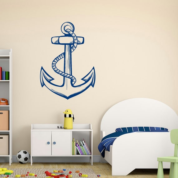 Nautical Anchor Wall Decal Sea Ocean Wall Decal by ...