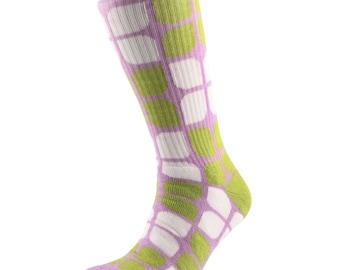 Samson® Flower Power Mapo Socks Cotton Fashion Flowers Girly Lilac Green White