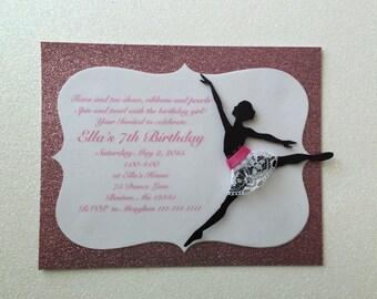 Dance/ Dance Birthday/Ballerina Birthday, or Baby Shower