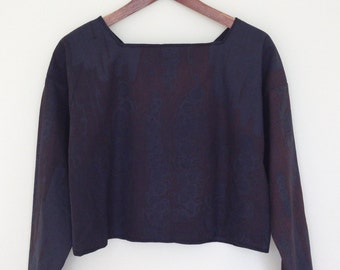 Cotton Screen Printed Boxy Top: Size Small