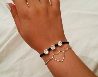 Handmade Swarovski Crystal bracelet.
