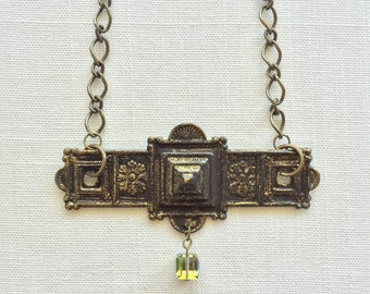 ELOISE - recycled vintage hardware statement necklace