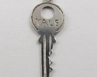Yale Key Sterling Silver Vintage Charm For Bracelet