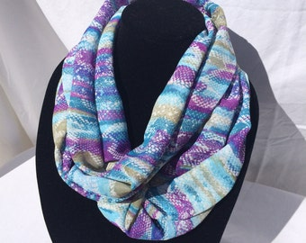 Watercolor Print Snakeskin Texture Infinity Scarf