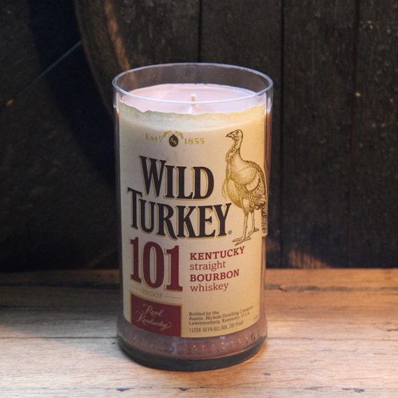 Wild Turkey Whiskey Candle Whiskey Present, Valentine's Gift For Husband, Valentine's Guy Gift, Valentine's Gift For Men, Liquor Gift