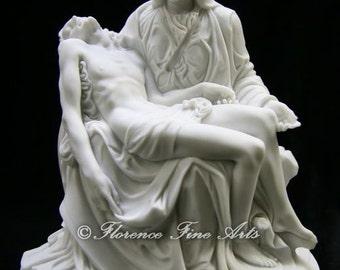 "8 3/4"" La Pieta of Sorrow by Michelangelo Jesus Mary Catholic Religious Statue Sculpture Made in Italy"