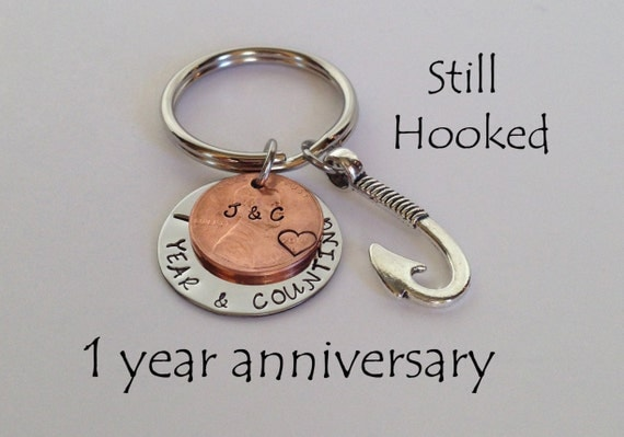 ... One Year Anniversary Gift, Gift For Men, Penny Keychain, Gift for Wife