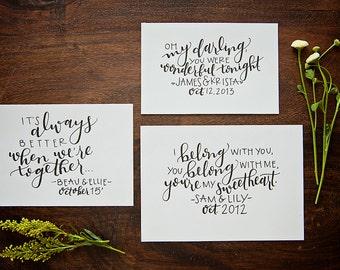First Dance Song // Custom Print // Calligraphy // Wedding Gift // Anniversary Gift