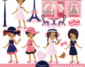 African american Paris clipart, Paris african american, Paris Girls Clipart, Eiffel Tower Clipart, Paris clipart - CA215