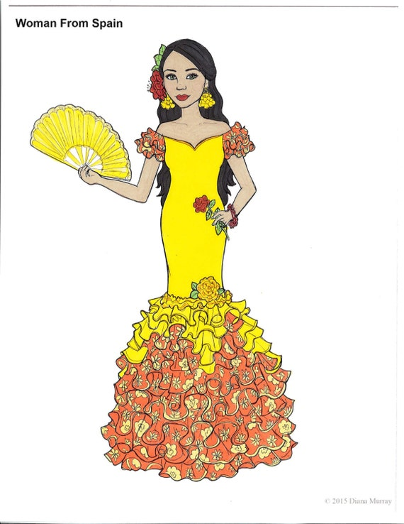 fashion coloring book printable around the world coloring pages volume 1 cultural coloring pages adult coloring pages - Fashion Coloring Book