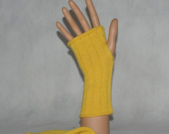 cashmere fingerless gloves /handwarmers / gloves / mittens , handmade from 2ply cashmere  ,OOAK