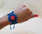 Gypsy Bracelet, Crochet Bracelet, Urban Bracelet, Hippy Ankle Bracelet, Macrame Bracelet, Ankle Bracelet, Colorful Bracelet, Boho Bracelet