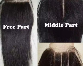 Sale! 100% Brazilian Virgin human hair Lace Top Closure Straight hair