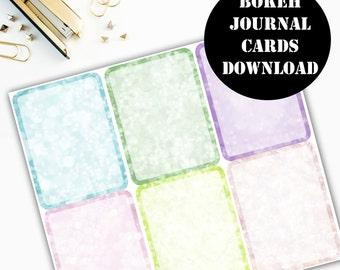 Bokeh Journaling Card Printable / Journal Cards / Scrapbook Kit / Journaling List / Listers Gotta List / Instant Download 00065