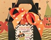 Mini Gable Box, 12 Halloween Party Favor Mini Gable Boxes, Black Gable Box, Halloween Treat Box, Candy Bag, Kids Favor Box, Trick or Treat