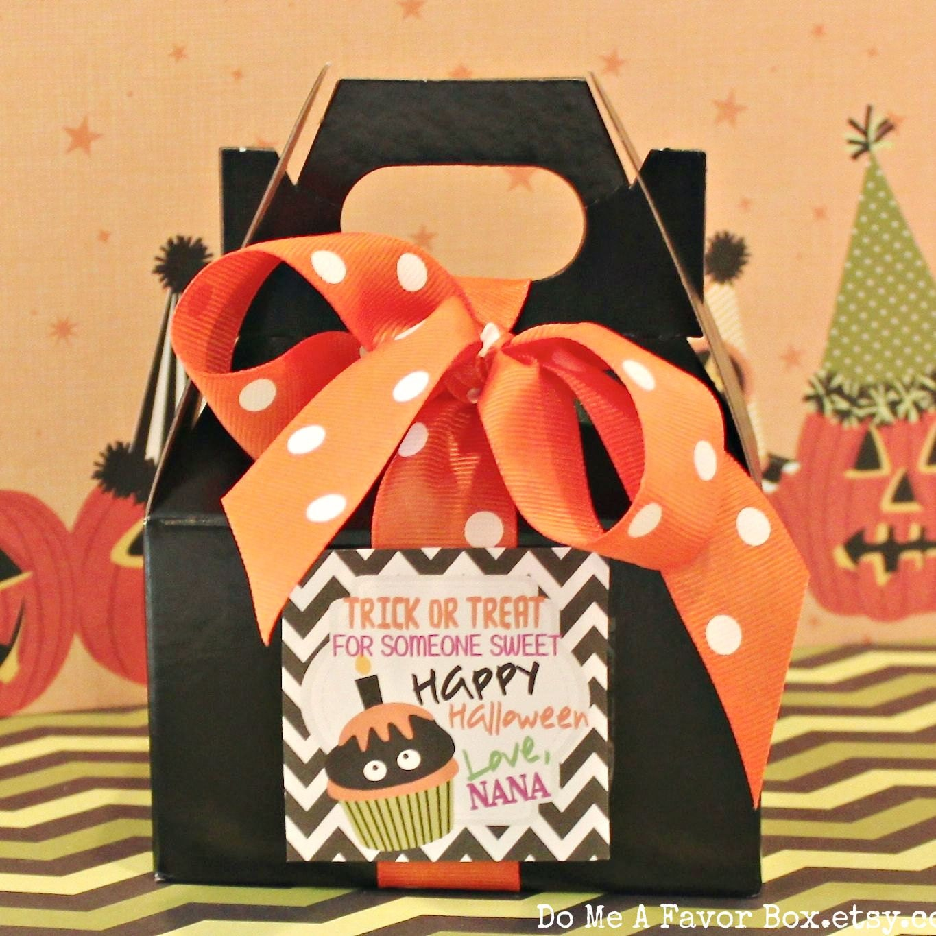 Mini Gable Box 12 Halloween Party Favor Mini Gable Boxes