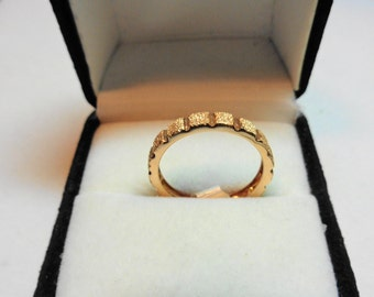 Solid 14kt. Rose Gold Band