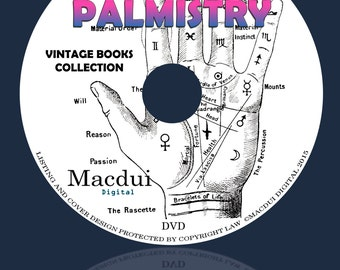 Palmistry, Cheirosophy, Philosophic Chiromancy, Hand reagding, Perin's science 24 PDF E-Books 1 DVD