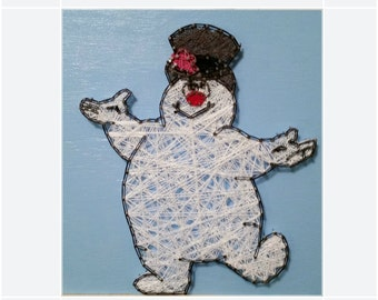 Frosty the Snowman String Art Sign, Made to Order