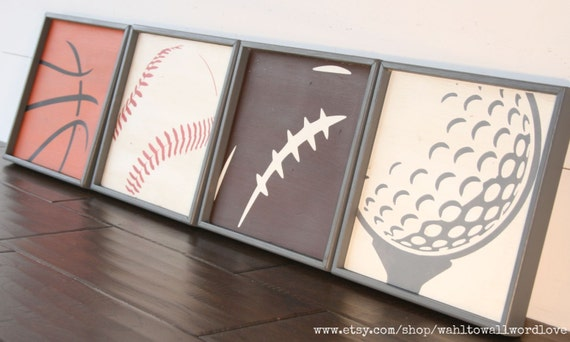 Basketball Baseball Football Golf Signs Sports Wall Art