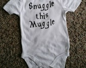 Funny Onesie Snuggle this Muggle Harry Potter Onesie Harry Potter Baby Gift