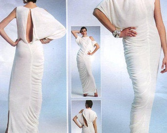 Vogue 1305 Free Us Ship High Fashion Evening Goddess Dress Designer LiaLia Size 6/14 14/22 Bust 30 32 34 36 38 40 42 44  New Out of Print