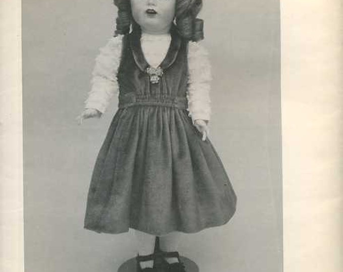 """FREE usa SHIP Byron Doll Pattern 1980's 152 Diane Fits 22.5"""" doll Old Store Stock Sewing Pattern"""