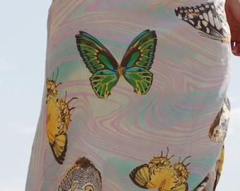 Butterflies beautiful midi skirt.