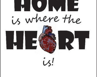 Home is Where the Heart is Notecard