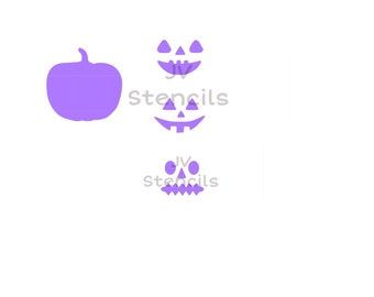 Pumpkin Faces Stencil