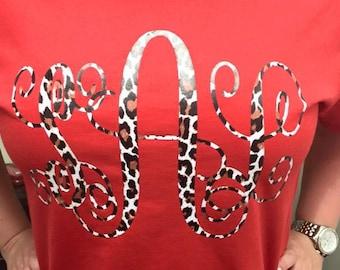 Leopard Monogrammed Shirt