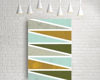 Geometric art print, abstract print, nordic design, minimalist print, triangles, wall decor, scandinavian art, modern art, pastel colours