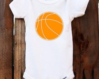 basketball onesie bodysuit baby sports athlete customizable colors vinyl