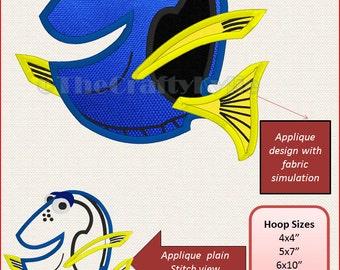 Disney Nemo Dory Machine Embroidery Applique Designs 4x4 5x7 6x10 hoop
