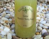 Cedar Liquid Soap, Organic Cedar Liquid Soap, Vegan Liquid Soap, Vegan Cedar Soap, Shower Gel, Hand Soap, Body Wash, Cedar Shower Gel