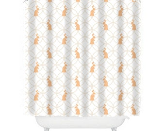 Kids Shower Curtain Bunny Bathroom Decor Bunny Shower, Bunny Decor, Ivory  Shower , Girl