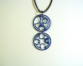 Don't Blink Circular Gallifreyan Doctor Who Necklace