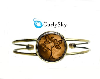 Brown Bracelet Old Vintage Brown Bangle Bracelet Jewelry Brown Tree Bracelet Caramel Brown Bracelet Brown Tree Bangle Old Vintage Jewelry