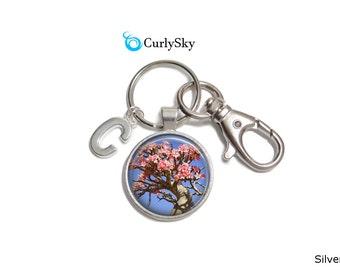 Cherry Blossom Keychain Cherry Blossom Tree Keychain Blossom Accessory Cherry Blossom Keyring Blossom Cherry Keychain Cherry Tree Keychain