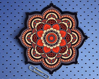 Sacred Geometry Mandala V2 Bumper Stickers