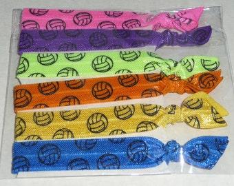 Volleyball Lover Fold Over Elastic Hair Ties/ Headbands