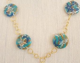 Starfish/seashell necklace