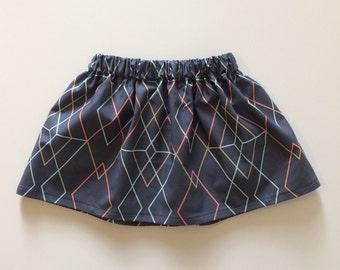 Baby/Toddler/Girls Geometric Skirt