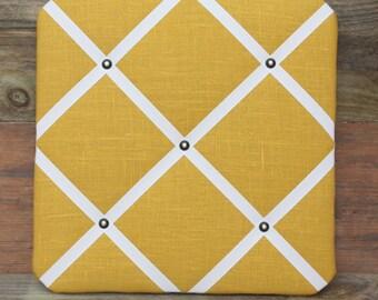 Mustard Linen Memo Board