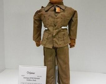 Antique WWI British Soldier Doll